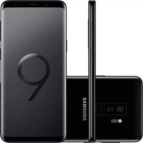 Samsung galaxy s9+ plus 128gb preto - lacrado nacional
