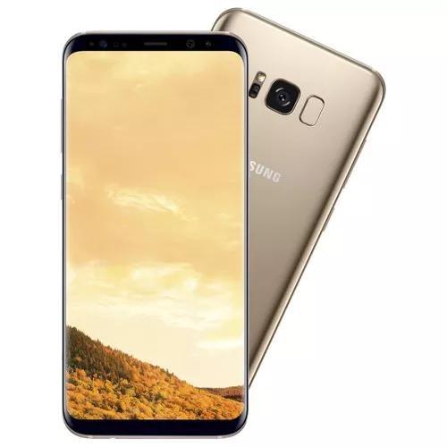 Smartphone samsung galaxy s8+ dourado tela 6,2 android 7.0