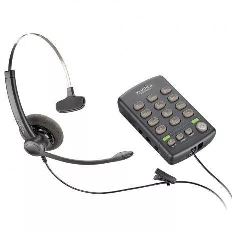 Telefone com headset monoauricular practica t110 plantronics