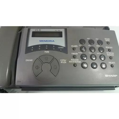 Telefone fax sharp ux 45 novíssimo leia descrição!!!