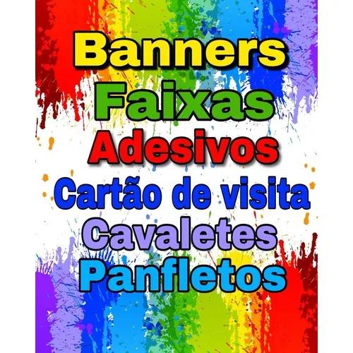Adesivos,banners,faixas,caveletes,cartão de visita etc...
