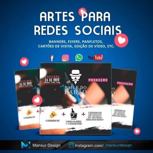 Artes Para Redes Sociais-banners, Capas, Facebook Instagram