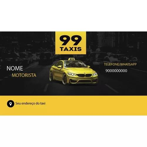 Cartão de visita - couche 250g 4x1 - 1000 un 99 taxi