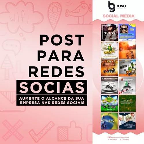Criação de posts - facebook, instagram e twitter