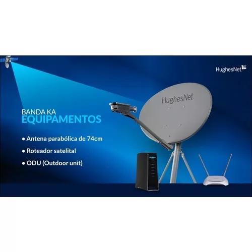 Internet rural via satélite