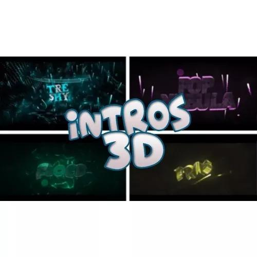 Intro 3d para canais no youtube full hd