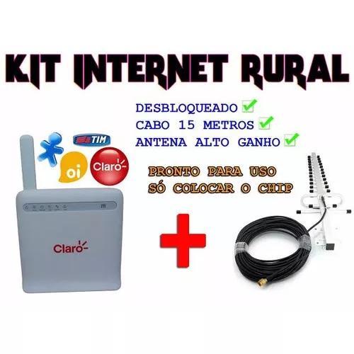 Kit internet rural roteador 4g