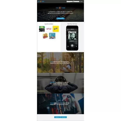 Player para web rádio com painel adm - vox mobi