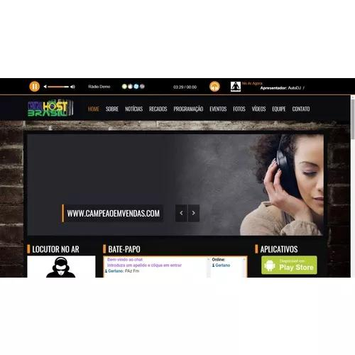 Rádio com site super fácil de editar + plano hospedag