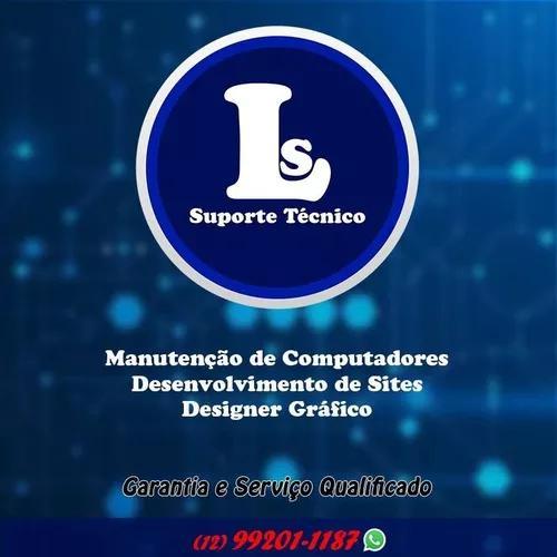 Suporte técnico, designer gráfico e desenvolvimento de
