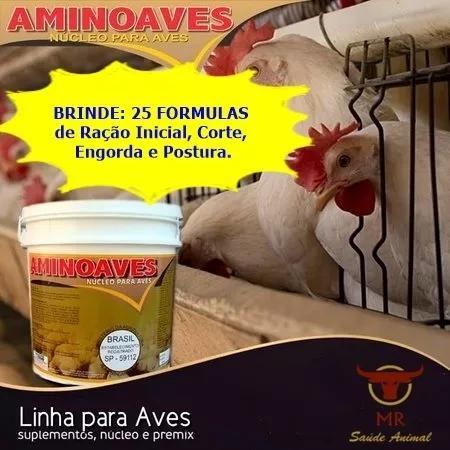 Aminoaves 5 kg - núcleo para ração + brinde - fab: