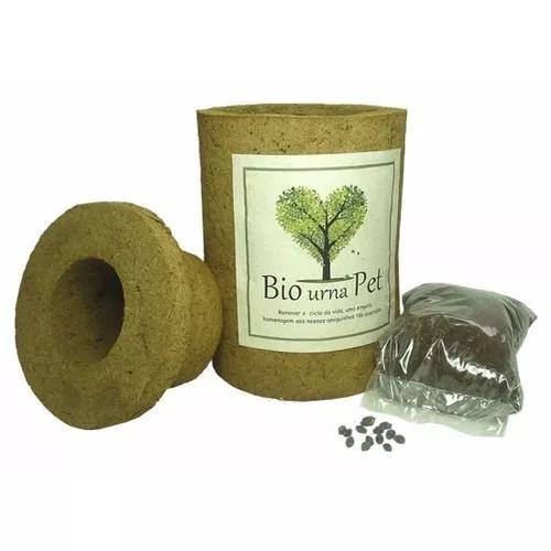 Bio urna pet para cinzas (média) pronta entrega sp