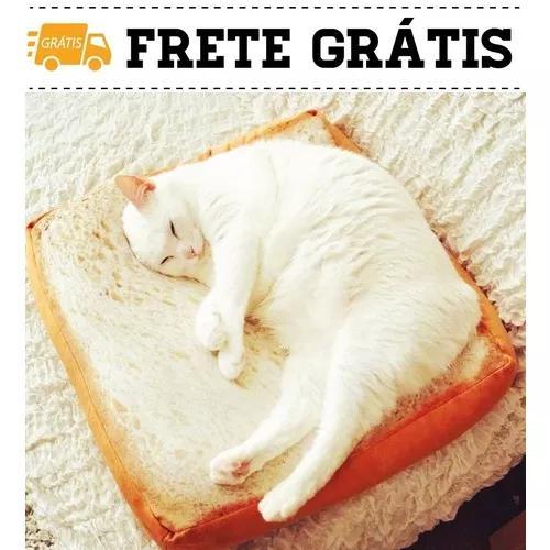 Cama casinha de gato pão de forma areia tapete 58/58cm