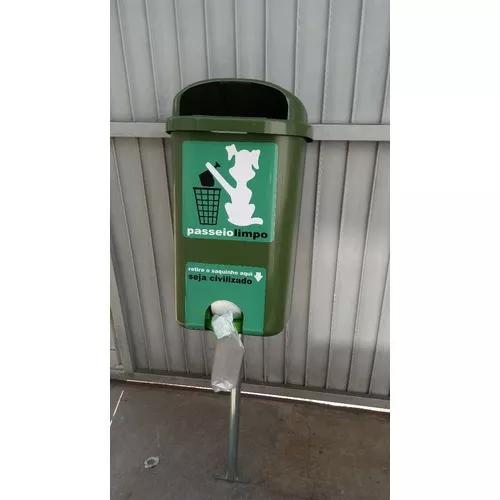 Cata caca + poste - lixeira para coleta de resíduo animal