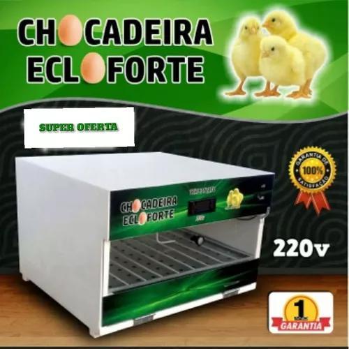 Chocadeira automatica 70 ovos + brinde promoçao
