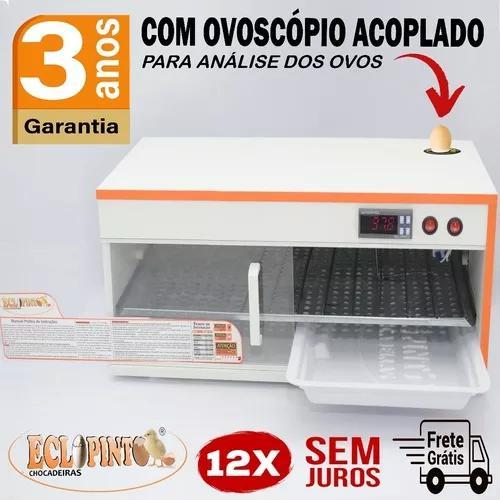 Chocadeira ovoscópio 120 ovos, digital automática ar