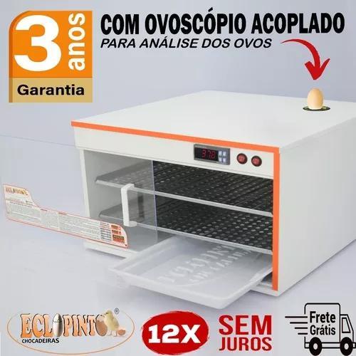 Chocadeira ovoscópio 200 ovos automática, digital ar