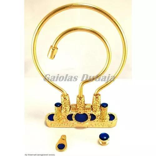 Gancho alça gaiola dourado super luxo kit com 10 unid