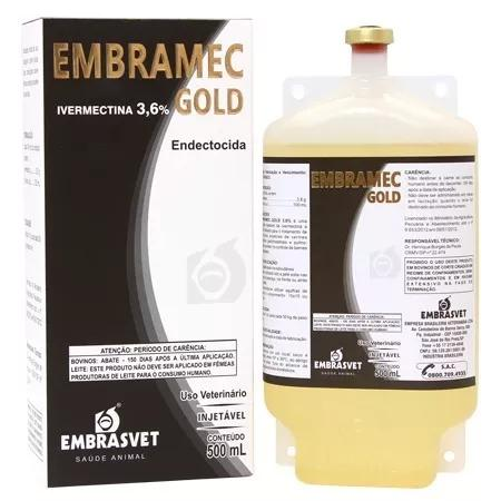 Ivermectina gold 3,6 % bovinos vacas bezerros 4 frs 500 ml