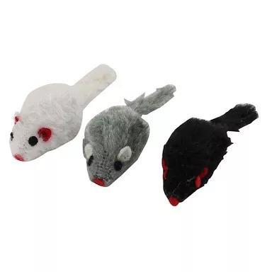 Kit 3 ratinhos com catnip = rato de brinquedo p/ gatos pets