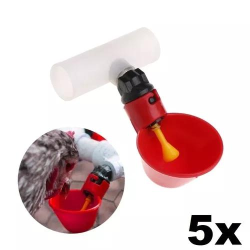 Kit 5x bebedouro automático copo cano aves galinha pombo
