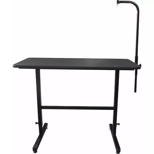 Mesa para tosa pet shop até 200 kg regulável preta