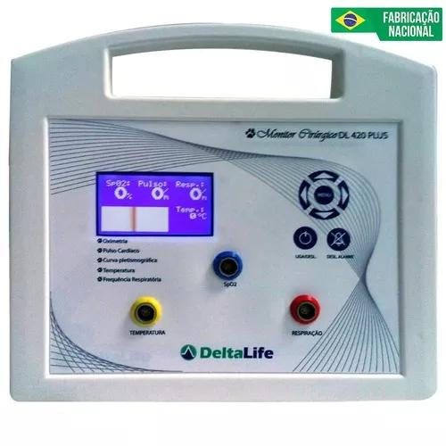 Monitor multiparamétrico veterinário dl 420 plus delta