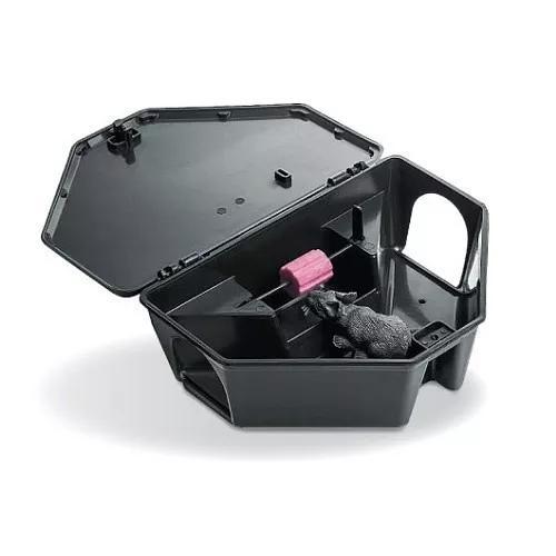 Porta isca com chave segurança para raticida veneno rato