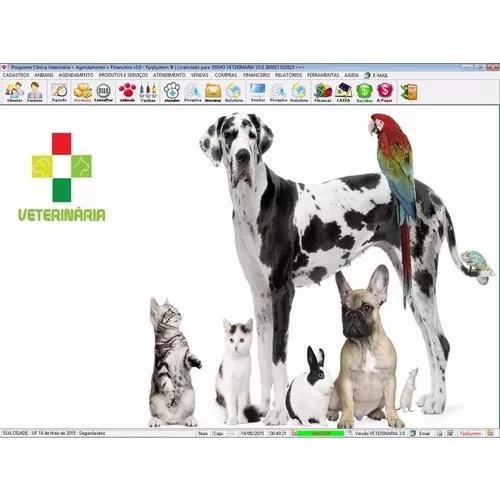 Programa clinica veterinária + agendamento + financeiro