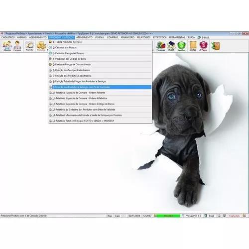 Programa petshop clinica veterinária + agendamento v4.0