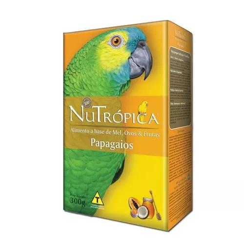 Ração nutrópica à base de mel e ovos para papagaios -