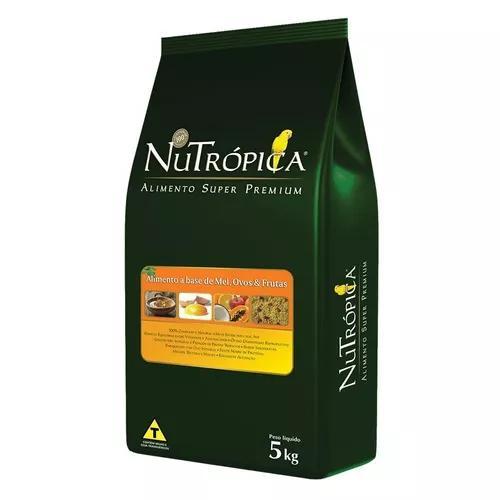 Ração nutrópica farinhada à base de mel, ovos e frutas -