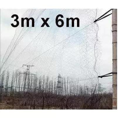 Rede neblina névoa pássaros pequeno 6 x 3 mt 15mm fio