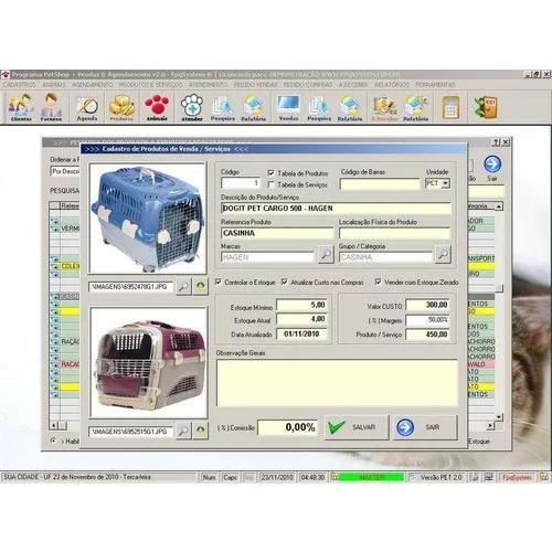 Software petshop + atendimento + agendamento + serviços