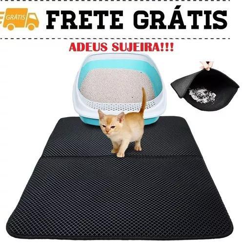 Tapete mágico caixa areia gato limpeza impermeável frete