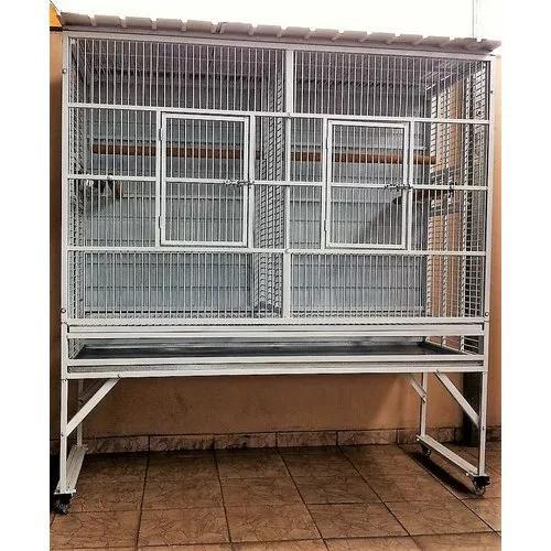Viveiro/ gaiola papag. artesanal 160 x 160 x 60 com poleiro