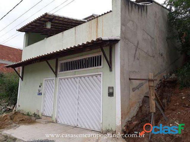Campo grande   bairro delcima   casa 3 quartos/1 suíte   100m2   3 vagas   rgi do terreno