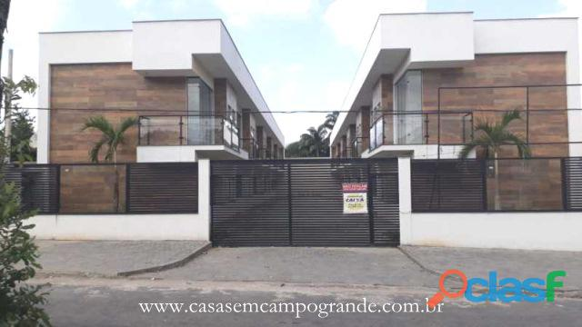 Campo grande   cabuçu   casa duplex nova 2 suítes   95m2   1 vaga   aceita carta/fgts