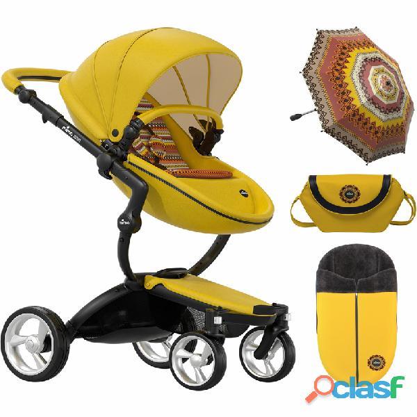 Carrinho de passeio completo Mima Xari, edição limitada amarelo