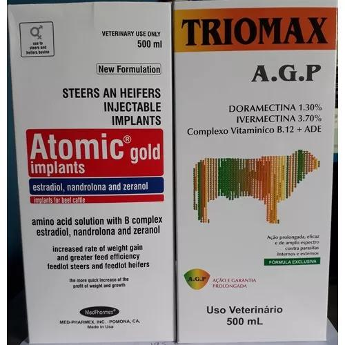 Combo) atomic gold implants + triomax a.g.p