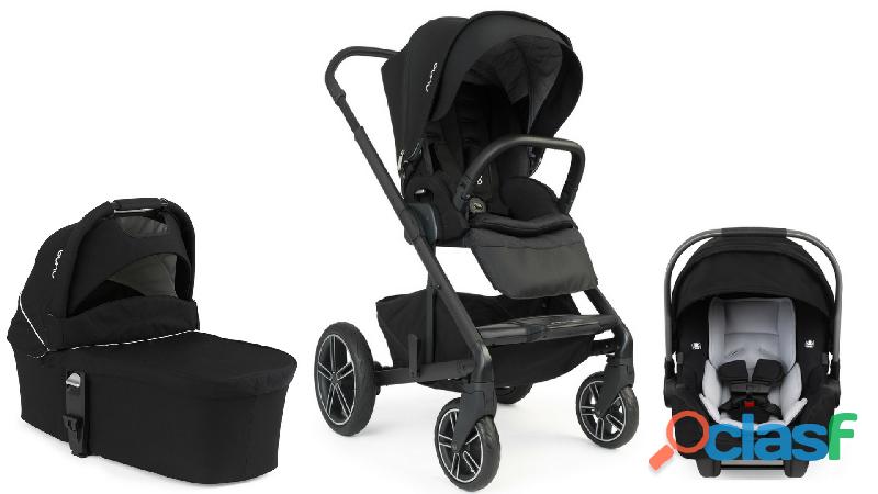 Nuna Mixx2 Bundle Carrinho de passeio para carrinho de bebê, berço e Pipa