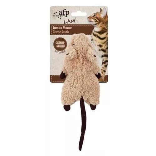Brinquedo afp roedor marrom com catnip para gatos