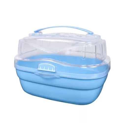 Caixa de transporte azul para hamster anão russo oferta