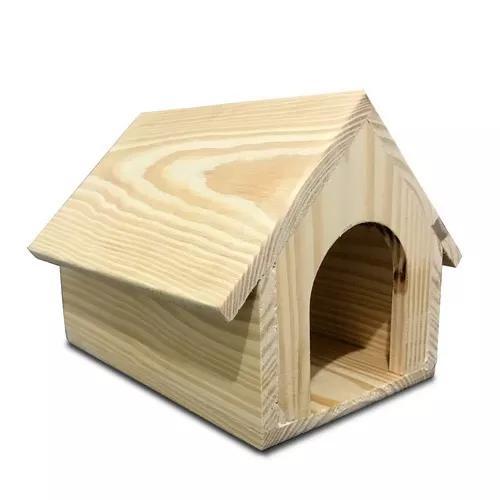 Casinha de madeira de pinus para coelhos