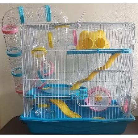 Gaiola hamster 3 andares safari (gigante) kit completo