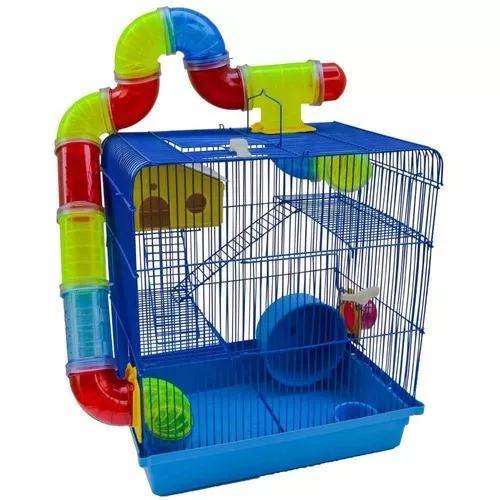 Gaiola hamster topolino anão russo 3 andares 12 x s/ juros