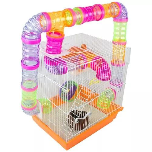 Gaiola Labirinto 2 Andares Para Hamster Roedores 33x28x38 Cm