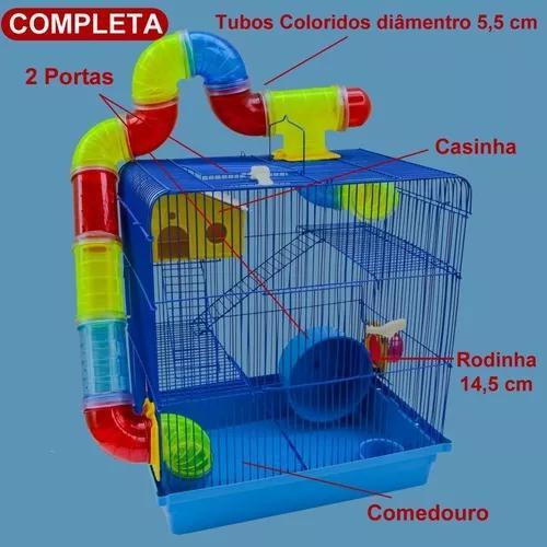 Gaiola labirinto 3 andares para hamster roedores