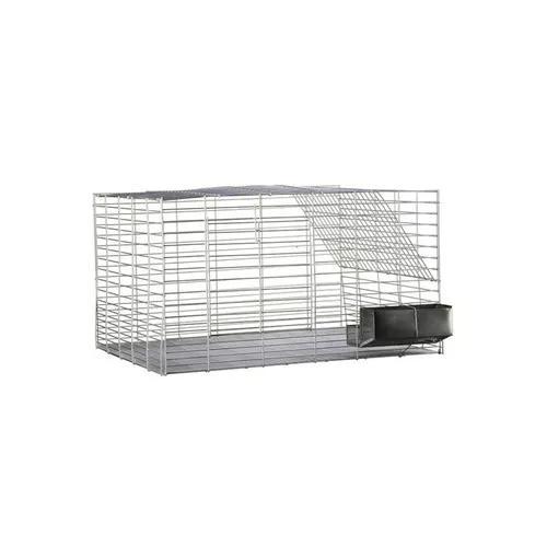 Gaiola para coelho roedores grande 80x60x45 - prata - 27
