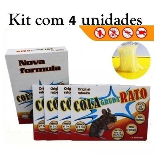 Kit 4 unid cola rato frete gratis